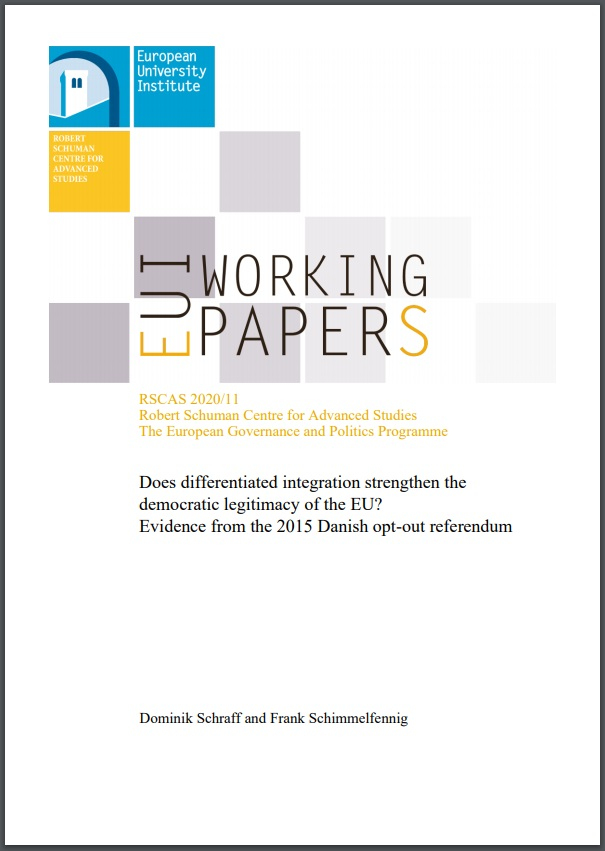 Publication cover: Dominik Schraff and Frank Schimmelfenning