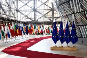 Brussels, European Flags